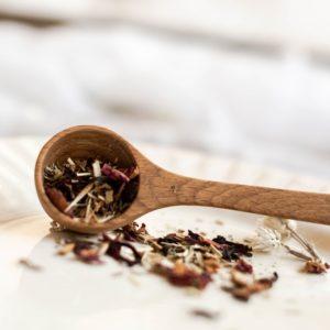 Tea scoop for the Wellness Blend herbal teas